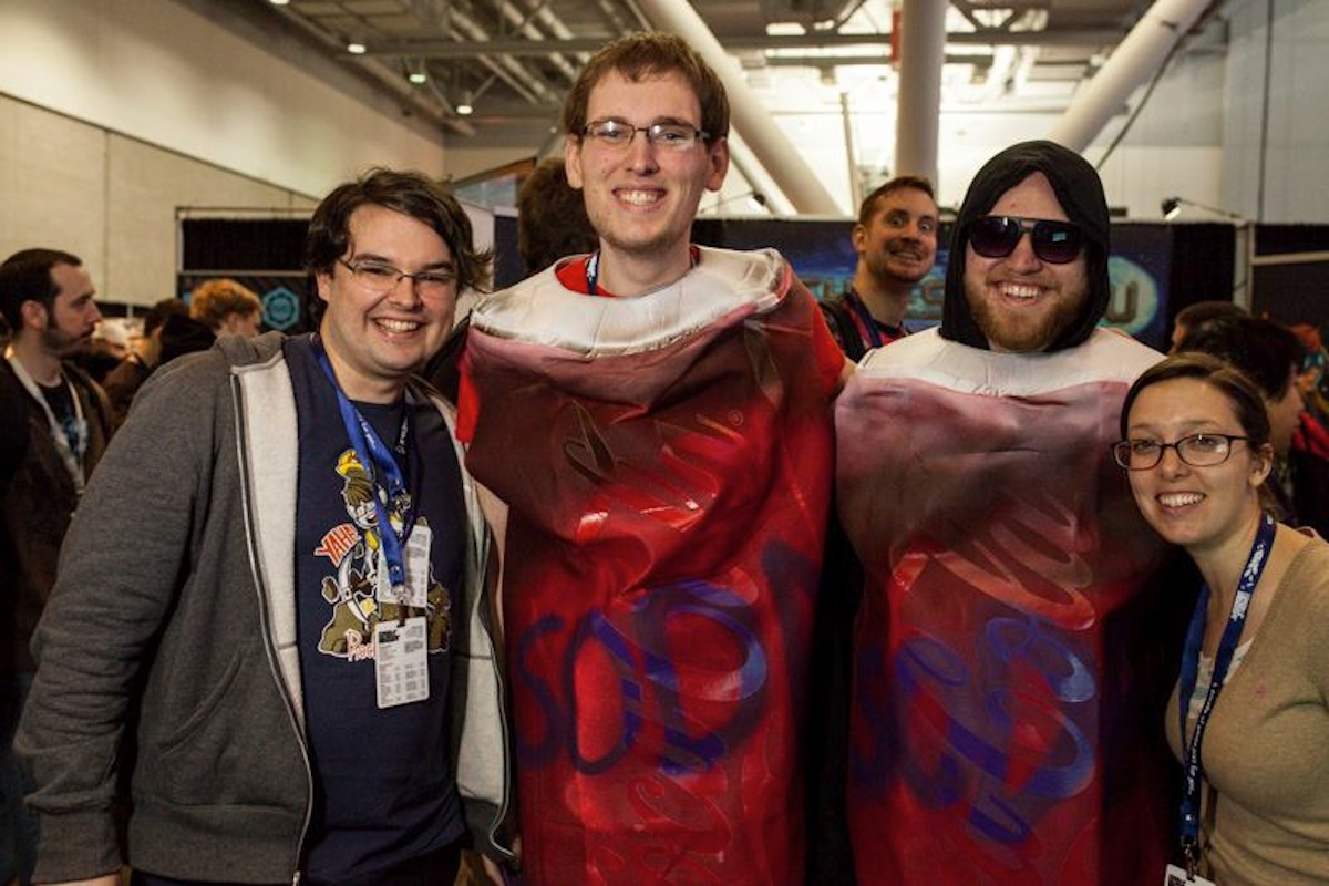 Soda Drinker Creators with Fans at PAX East