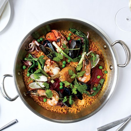 The paella at Ostra, photo by Kristin Teig