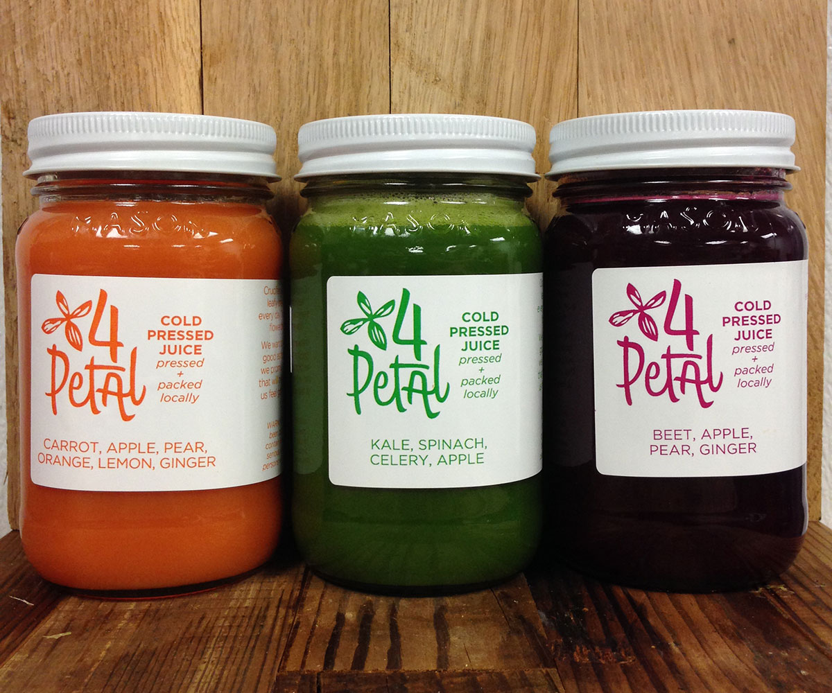 The new 4 petal juices.