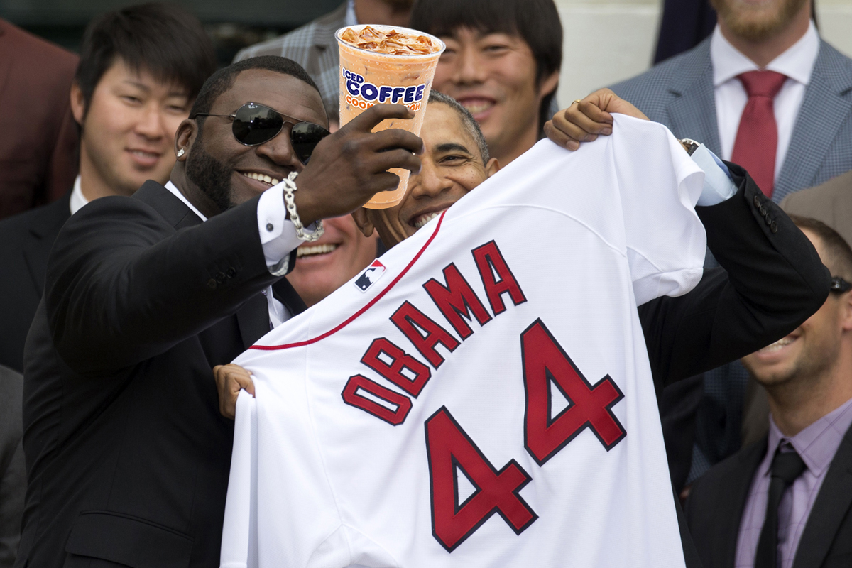 david ortiz barack obama dunkin donuts