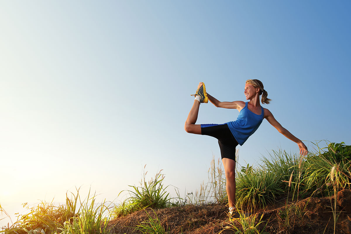 runner yoga