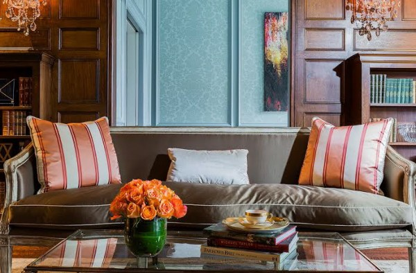 A peek at one of Mullaney's living room designs (photo by Michael J. Lee).