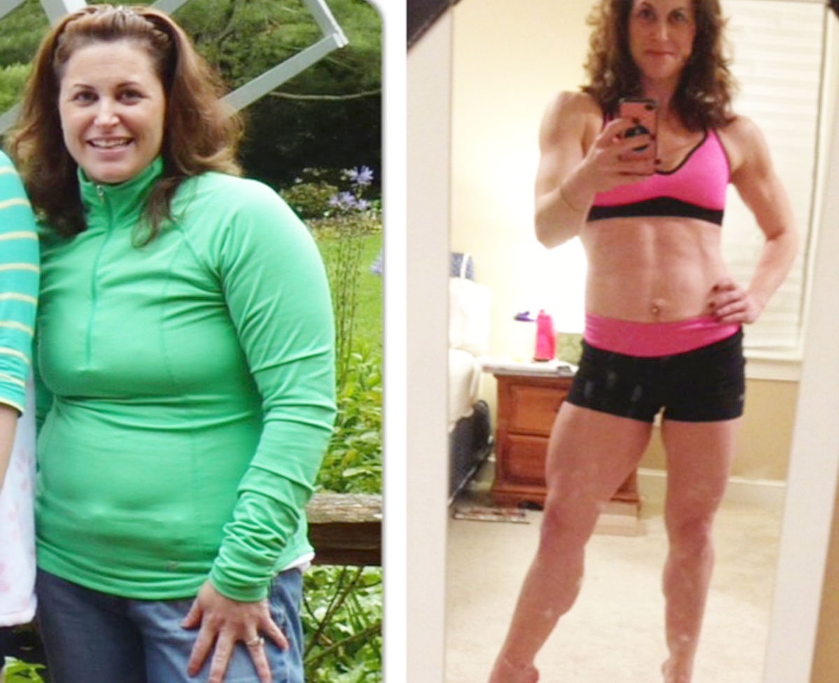 Before and after photo of alison corwin provided