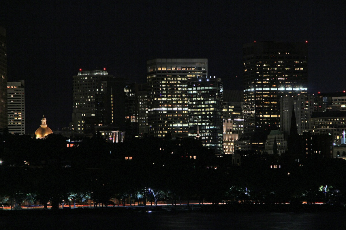 Boston at night photo uploaded by Bill Damon on Flickr
