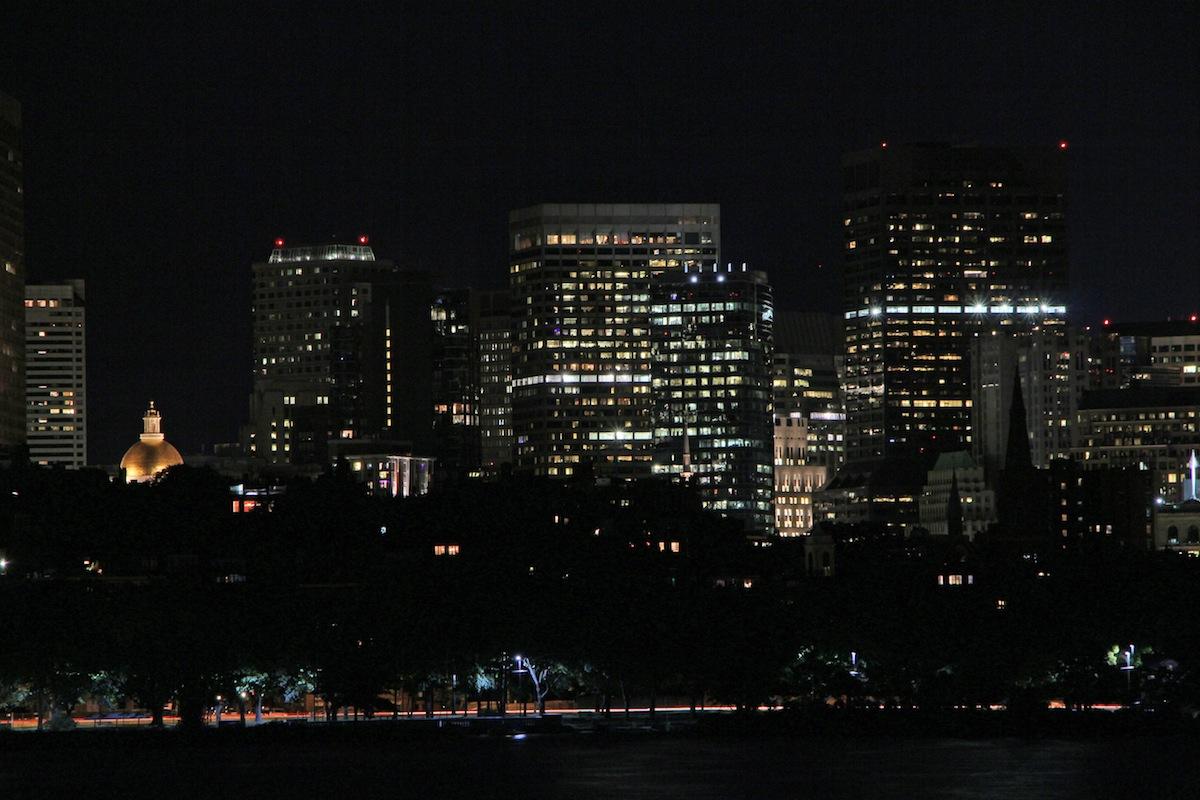 Boston at night photo uploaded by Bill Damon on Flickr
