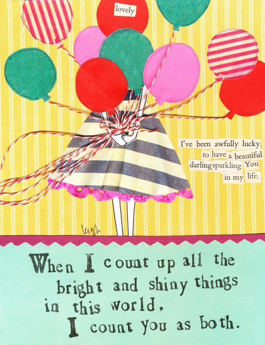 Curly Girl Design, Balloon card