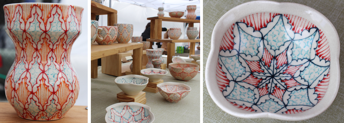 sowa open market 2014 Dawn Dishaw Ceramics long