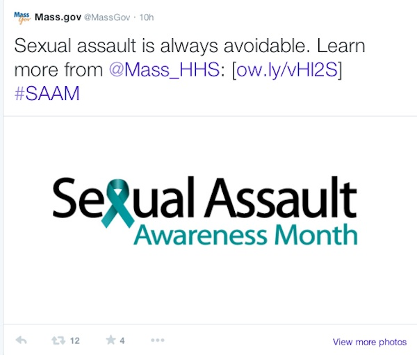 Sexual Assault Tweet