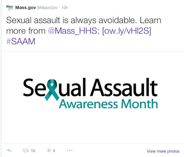 Sexual Assault Tweet