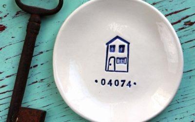 Zip code trinket dish photo.