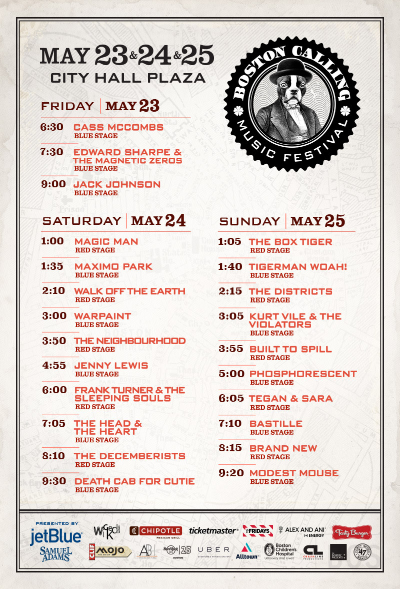 boston calling spring 2014 schedule