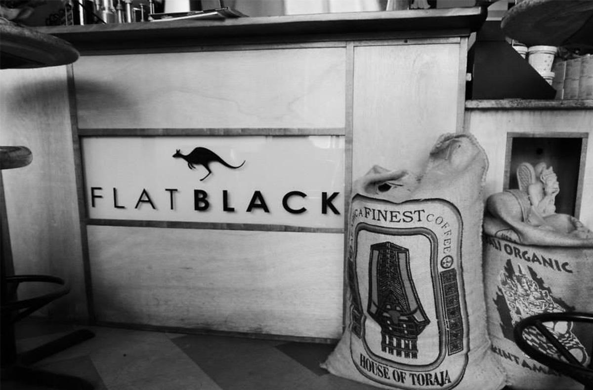 flat black coffee
