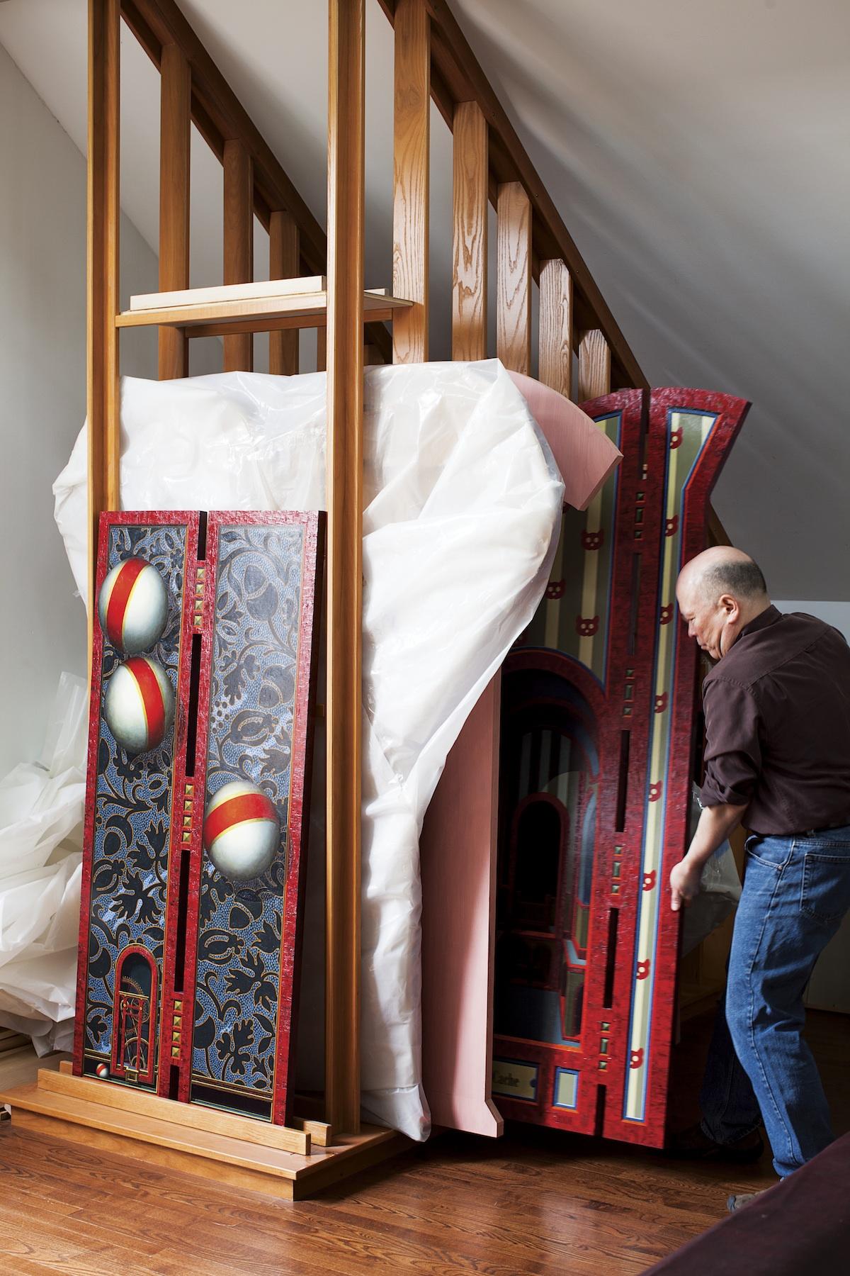 storing paints