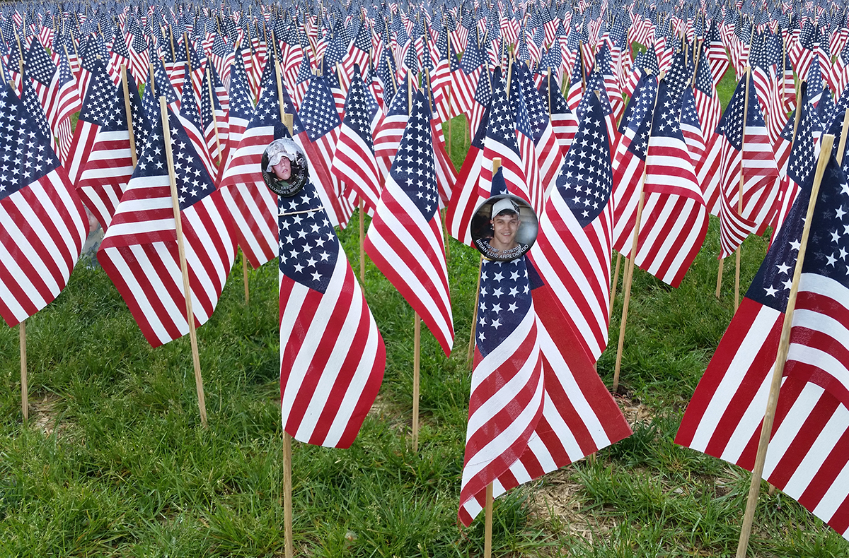 37 000 u s flags planted in boston common for memorial. Black Bedroom Furniture Sets. Home Design Ideas