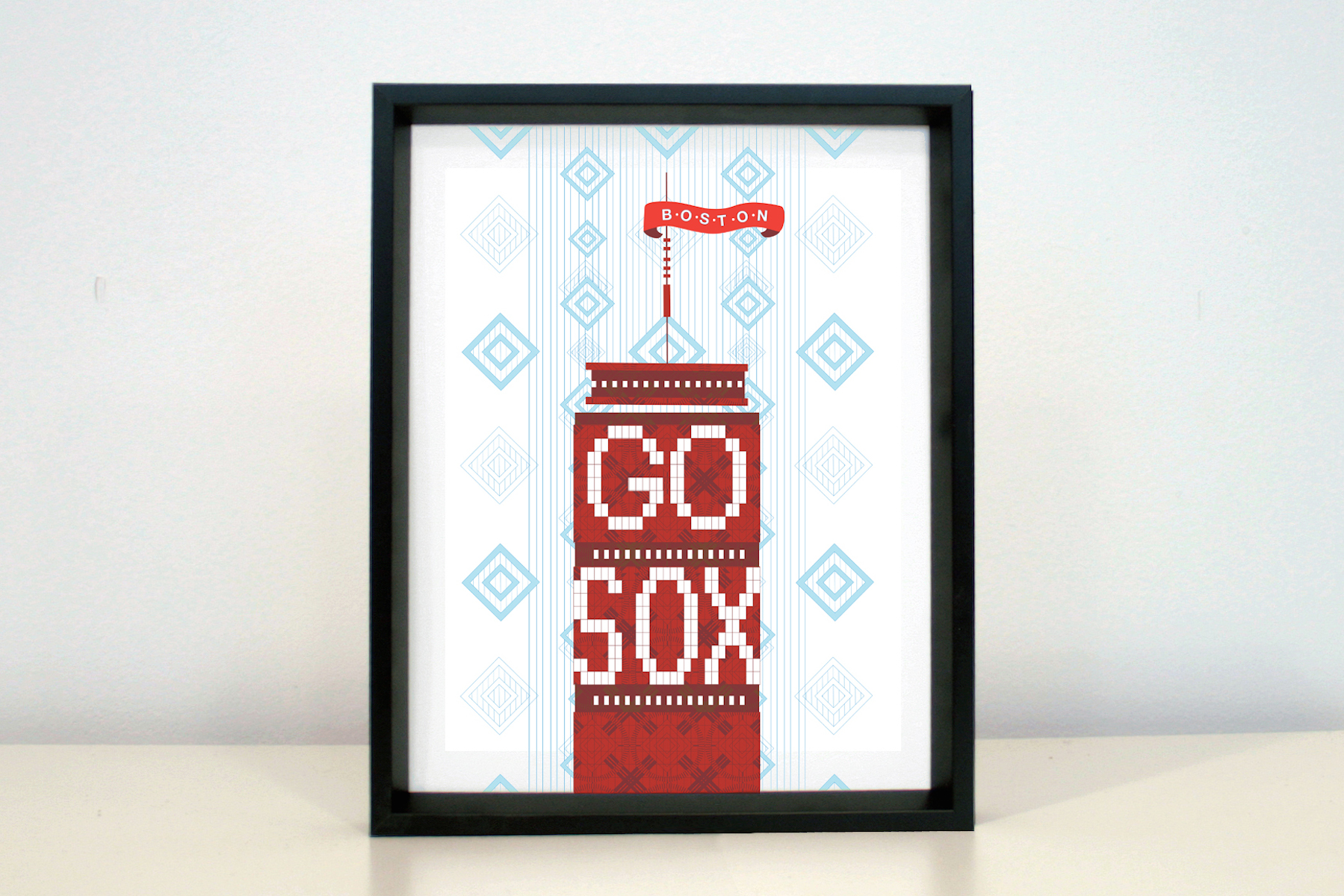 Prudential Town Go Sox framed drawing now available at the Fenway location as part of the West Elm LOCAL collection.