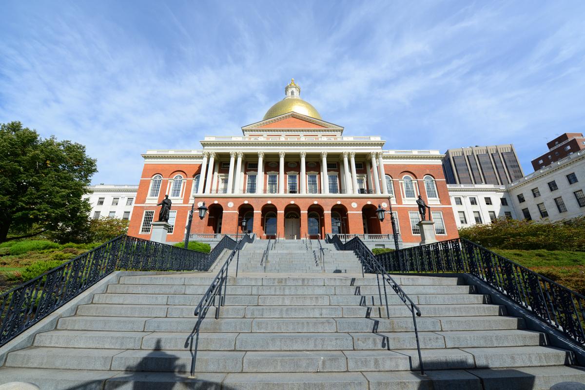 Massachusetts State House photo via Shutterstock