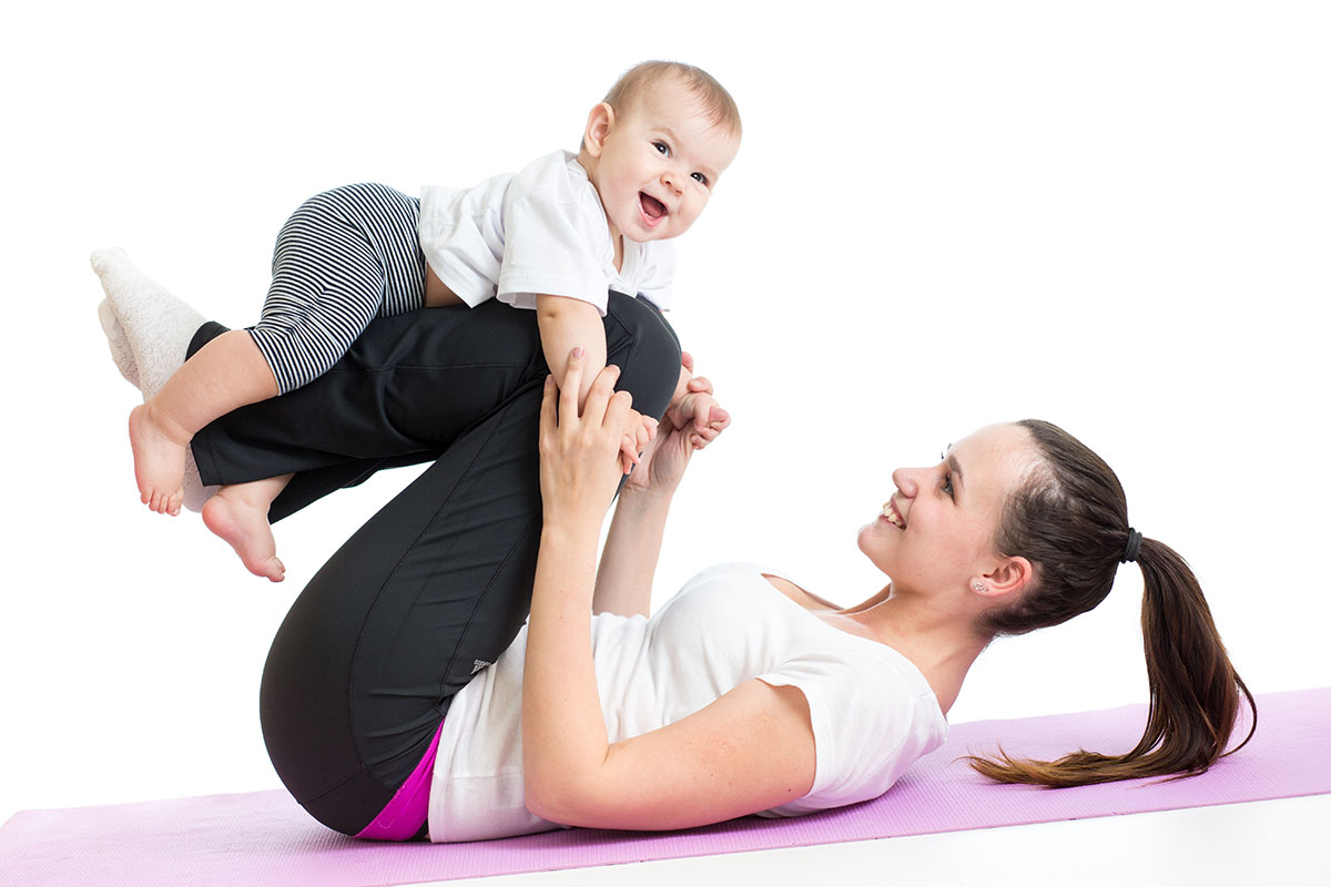 Mother-daughter Yoga via Shutterstock