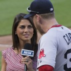 Jenny Dell NESN On-Field Reporter, Mike Carp