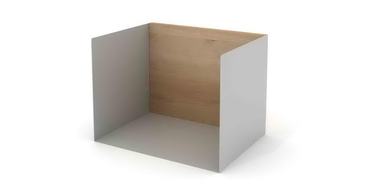 1 U shelf 40x30x30 agate grey