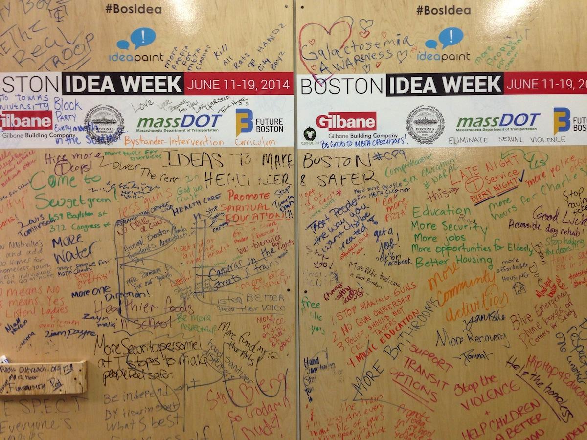The Wall of Ideas/Photo by Steve Annear