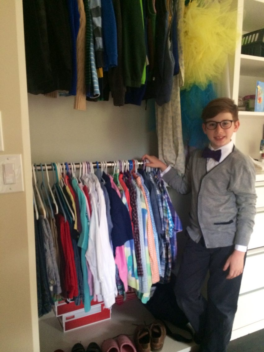 Tobias Otting in front of his closet / Photo by Laura Gassner Otting