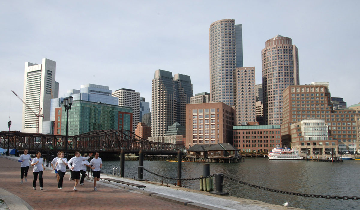 westin run concierge paul dwyer leads they way. photo provided by the westin boston waterfront
