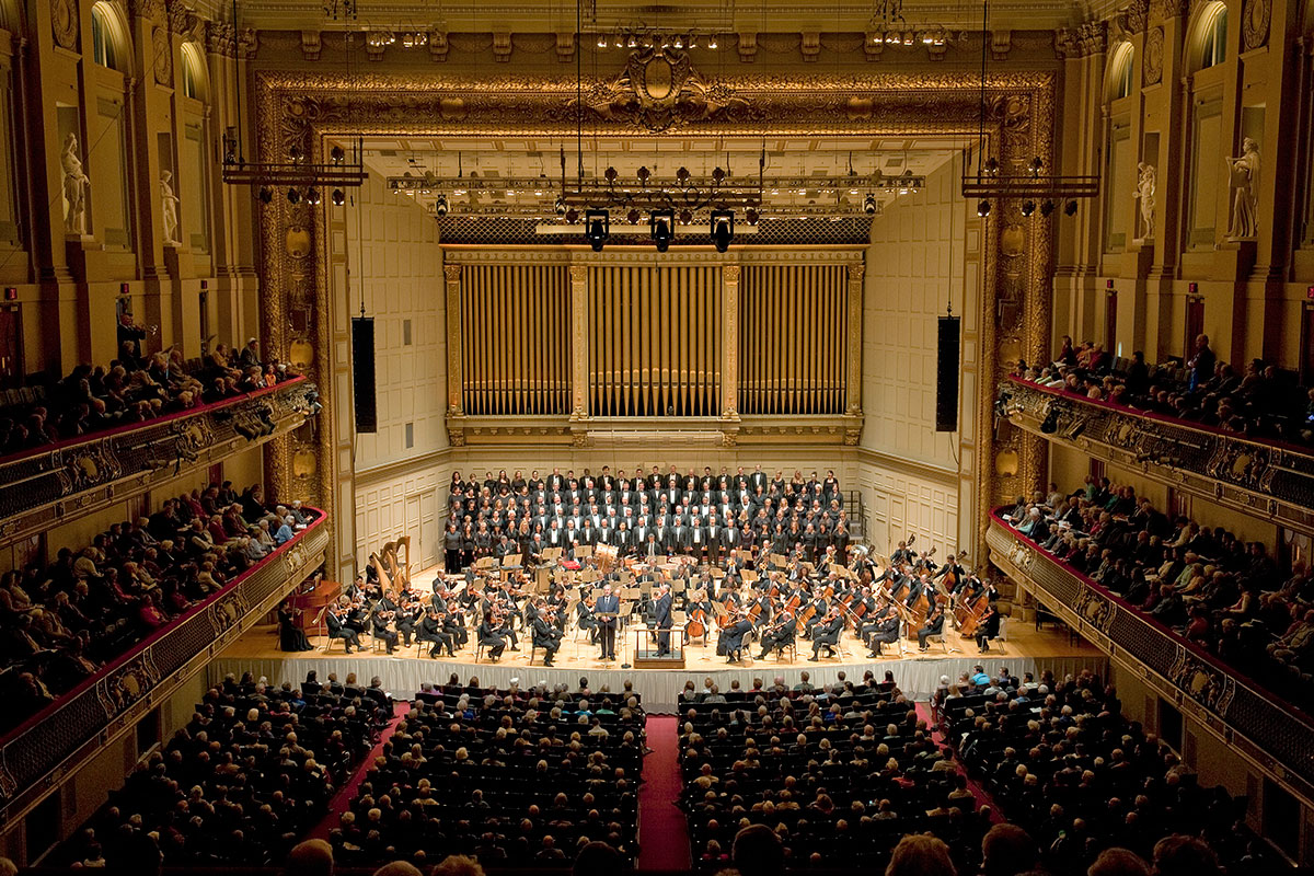 Boston Symphony Orchestra with Tanglewood Festival Chorus. Photo by Stu Rosner provided by the BSO