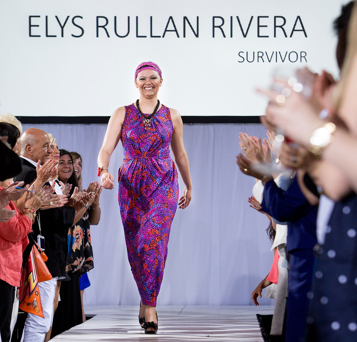 elys walks the runway. photo by fournier & malloy photographers
