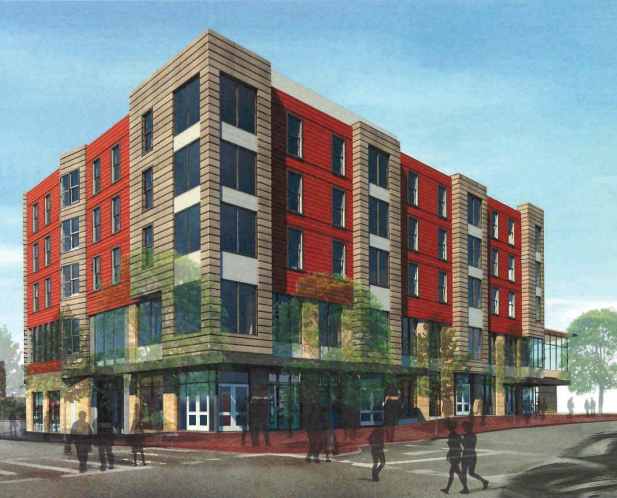 Rendering of Parcel 25 mixed-use project