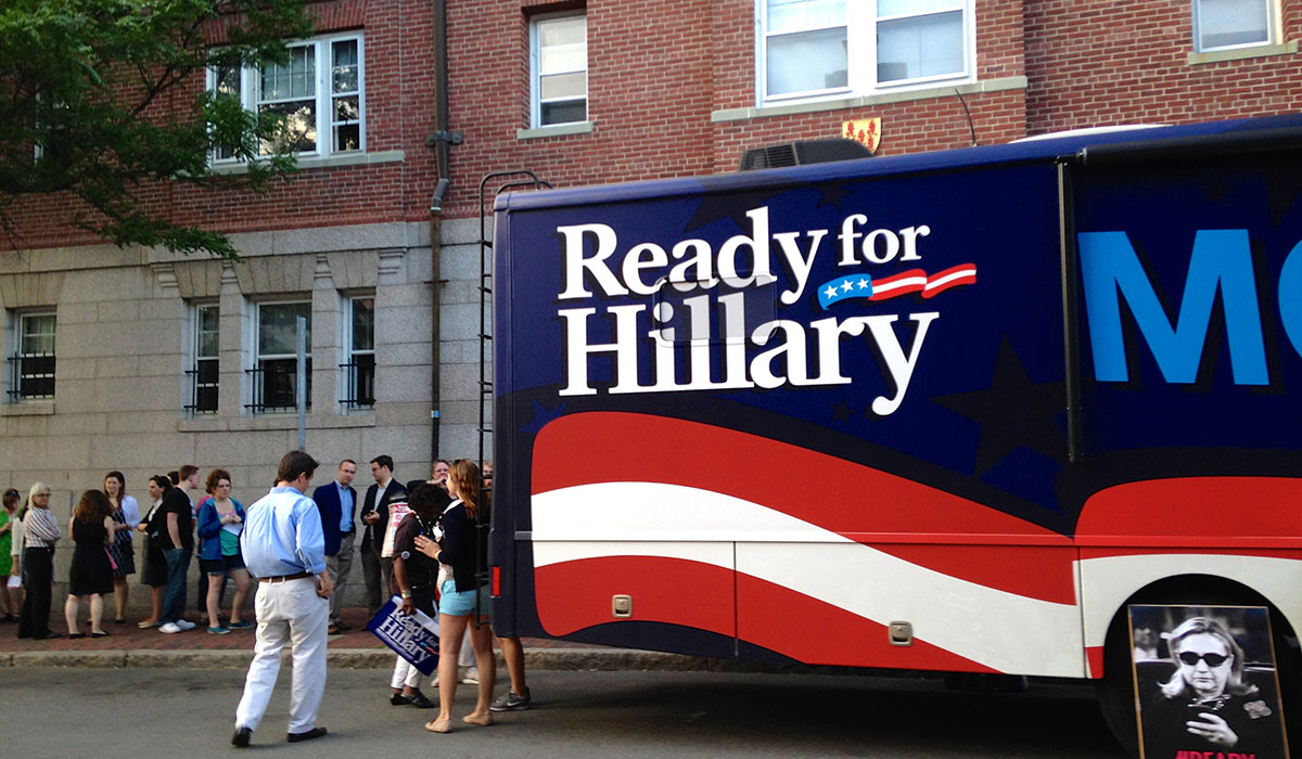 Ready for Hillary bus