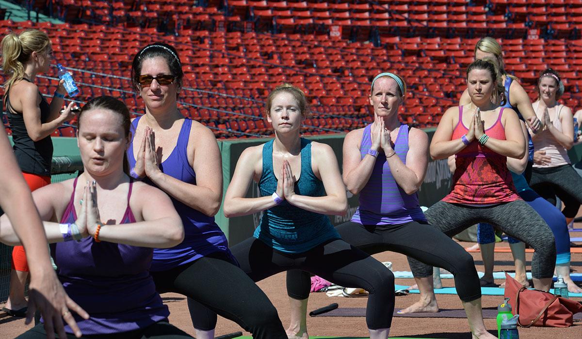 yoga at Fenway Park