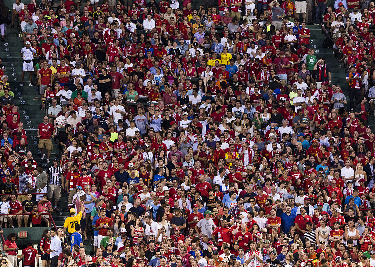 The crowd at Fenway Park / Photo by Jesse Burke