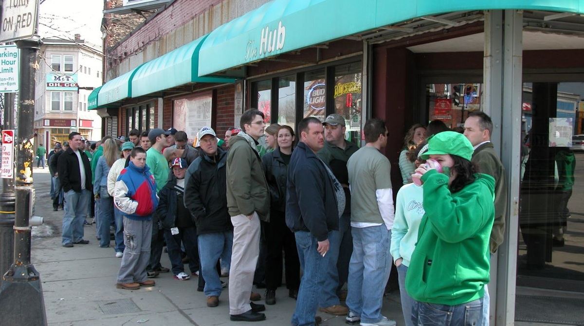 Liquor Store Line on St. Patrick's Day/Photo Uploaded By Bryan Maleszyk on Flickr