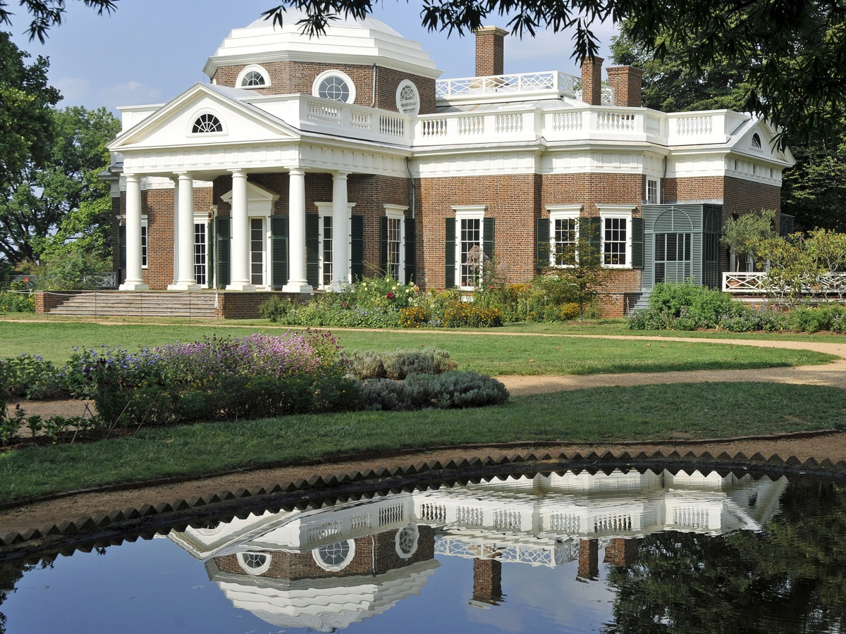 Jefferson's Monticello (Pond Reflection) by Tony Fischer, used under CC BY / Resized from original.