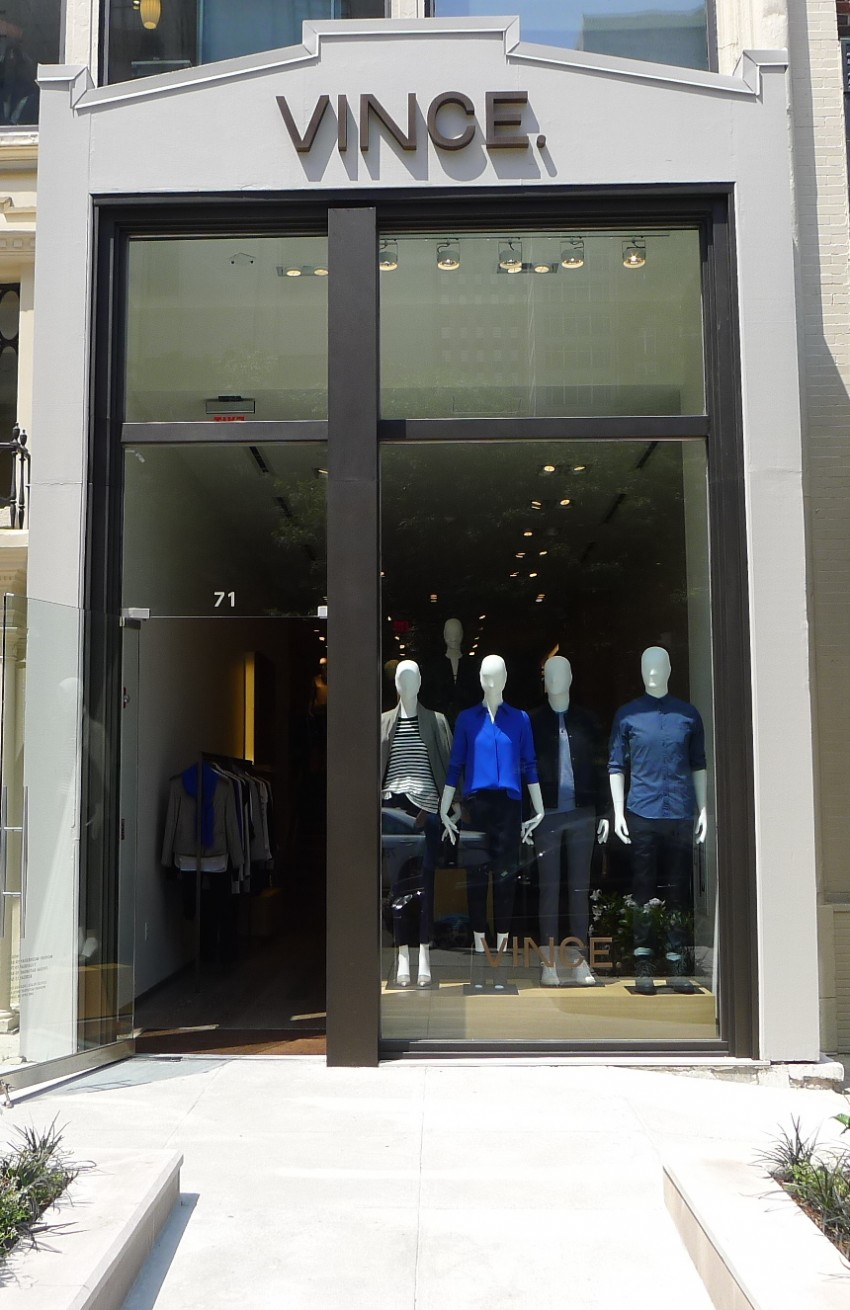 Exterior of Vince's new Newbury store / Courtesy photo