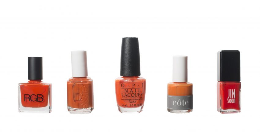 Orange polishes to add to your mani-pedi rotation in warmer months / Photo by Sarah Morse