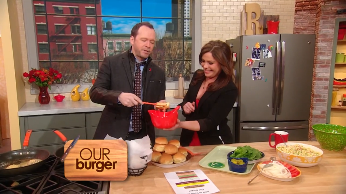donnie wahlberg rachael ray wahlburgers our burger recipe
