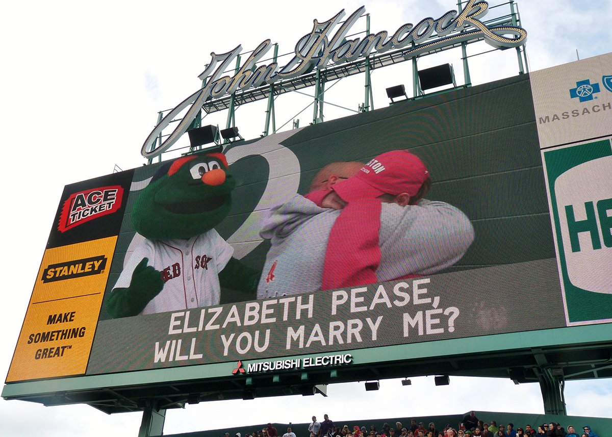 Proposal at red sox game