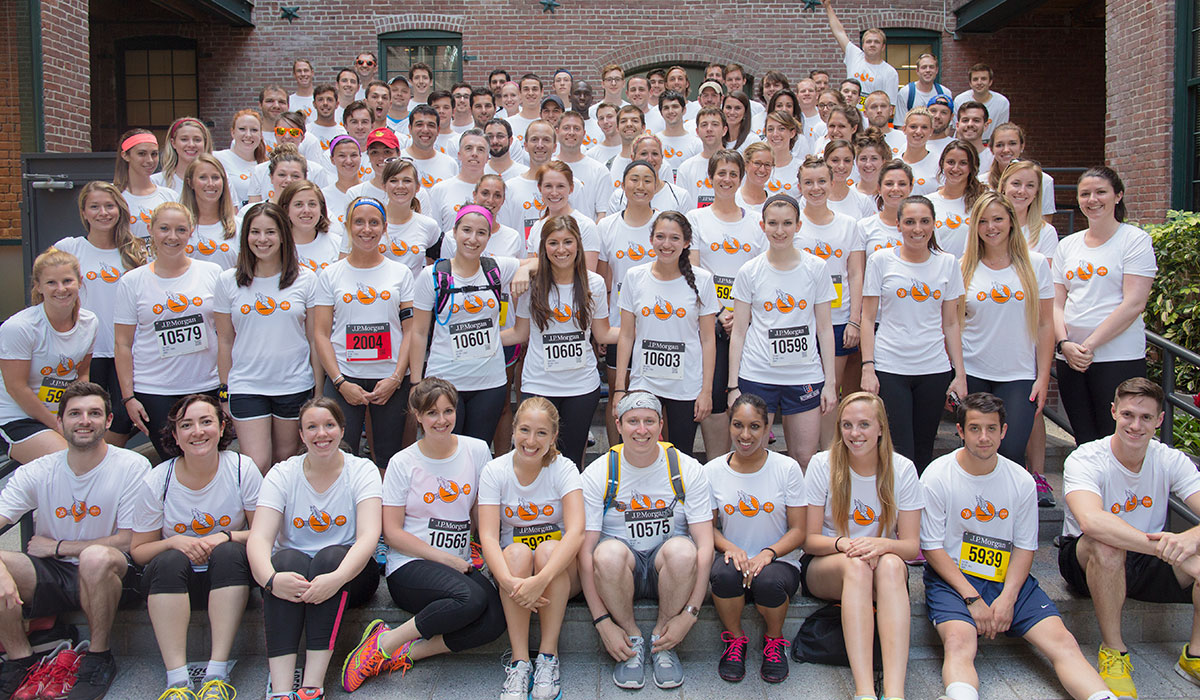 HubSpotters compete at the JP Morgan Corporate Challenge.