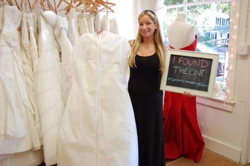 A bride finds