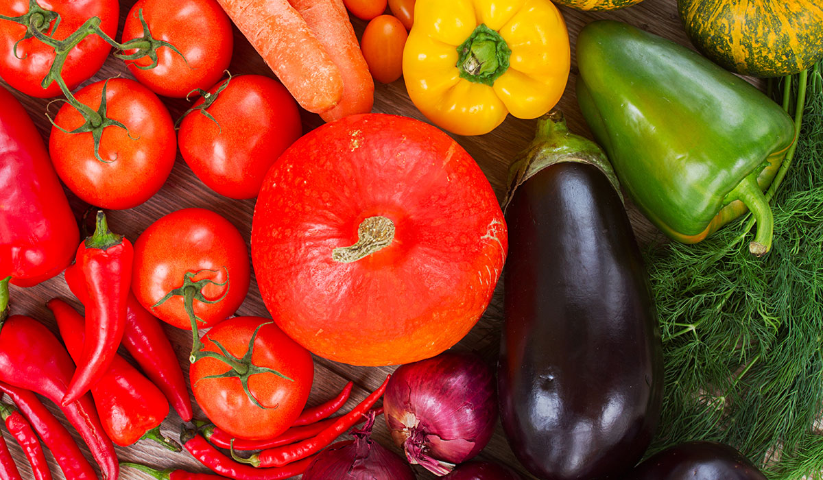 vegetables photo via shutterstock.