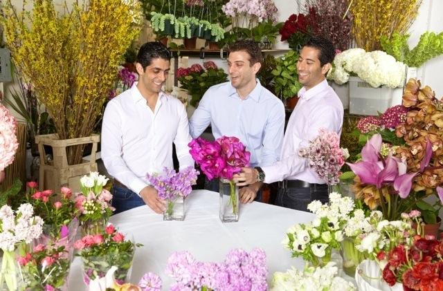3 guys in pastel