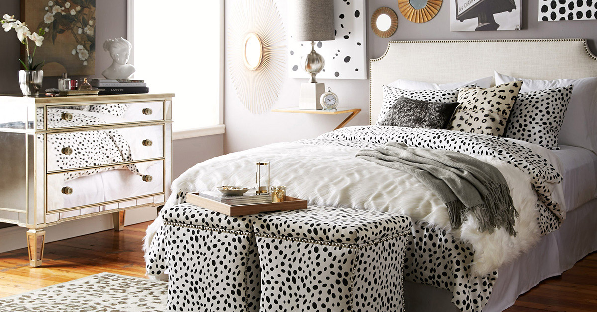 The Dots and Spots curated collection from Joss & Main features a trendy mirrored-finish dresser. Photo provided.