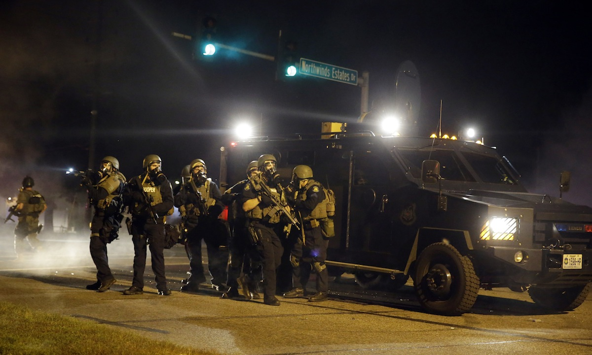 Police in Ferguson, Missouri/Image via Associated press