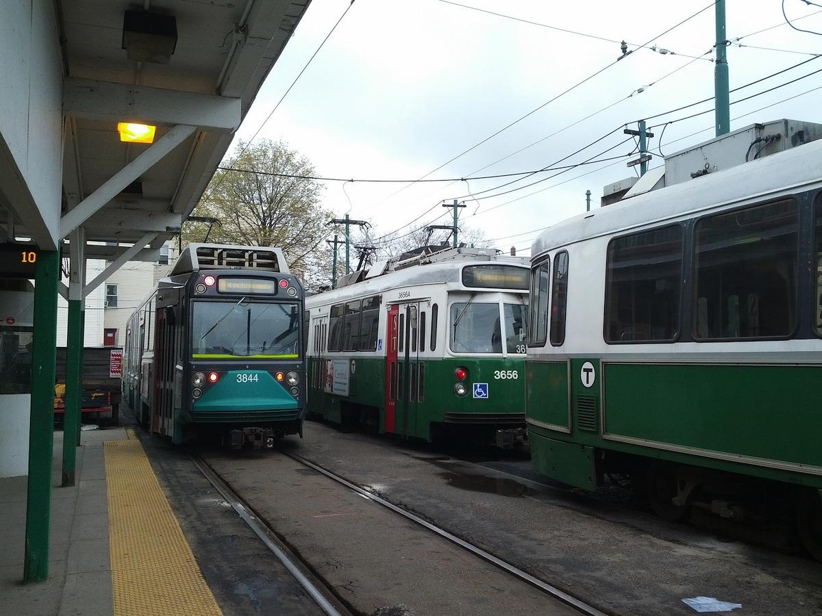 MBTA Green Line Photo Uploaded by Eric Fischer on Flickr