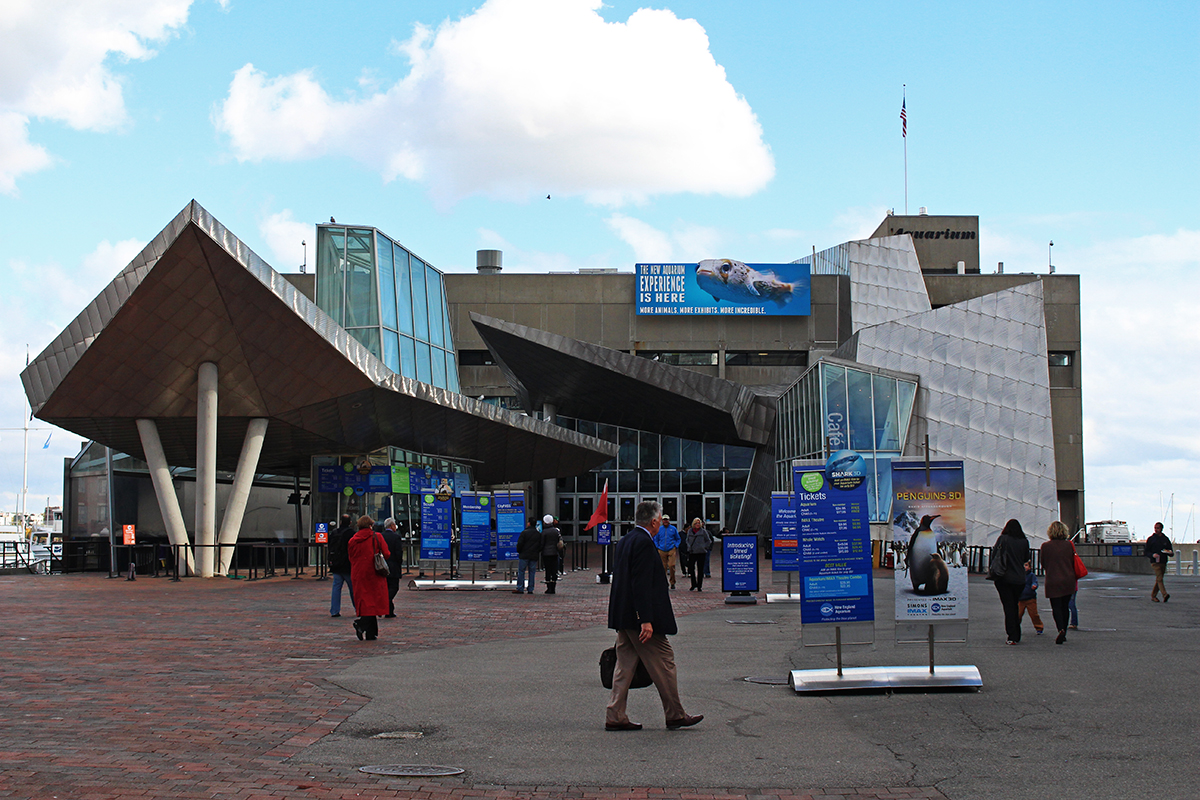 new england aquarium front