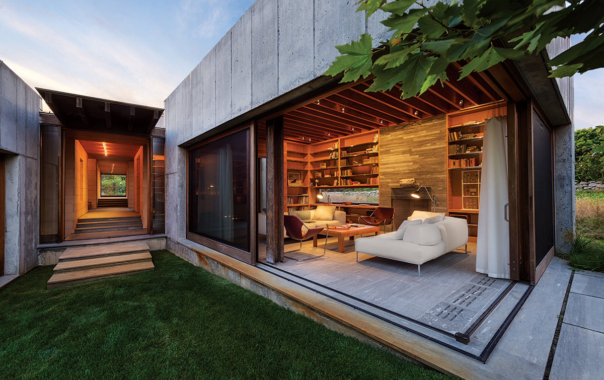 very attractive home construction and design. concrete home House of Stone  Boston Magazine