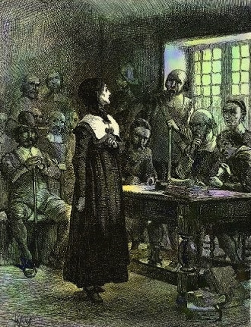 Anne Hutchinson on Trial via Wikimedia Commons