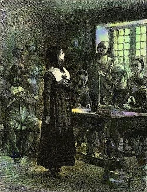 Anne Hutchinson on Trial via Wikimedia Commons
