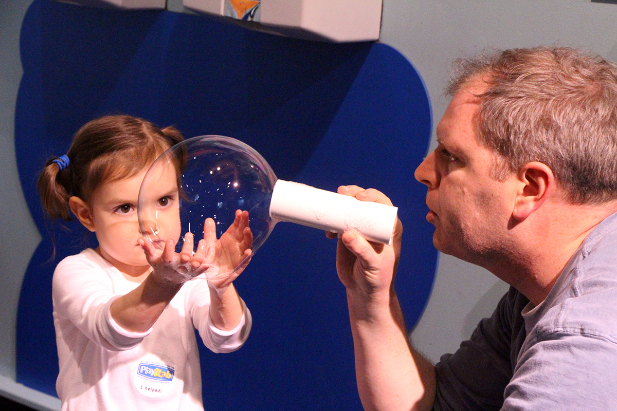 Bubble Girl and Dad